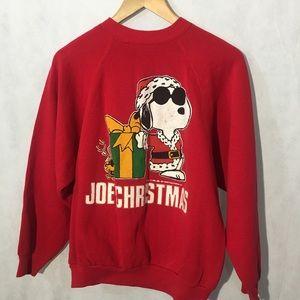 "Vintage • Snoopy ""JoeChristmas ""sweatshirt • 1971"